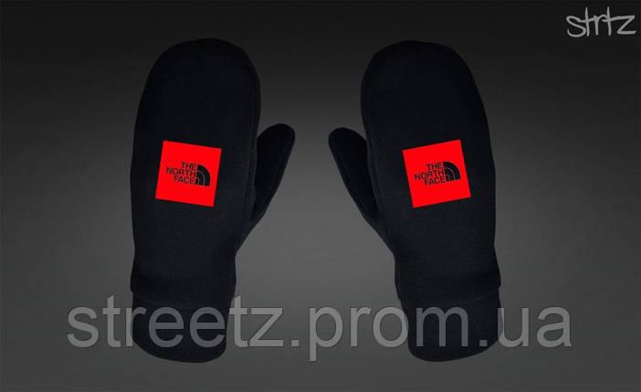 Варежки The North Face Fleece Mittens черные, фото 2