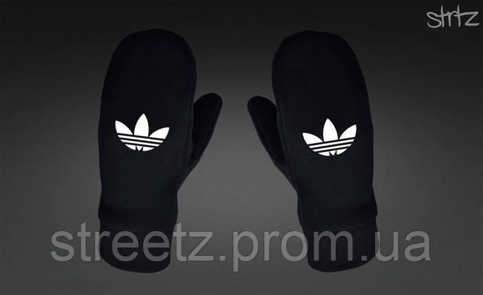 Варежки Adidas Originals Fleece Mittens черные, фото 2
