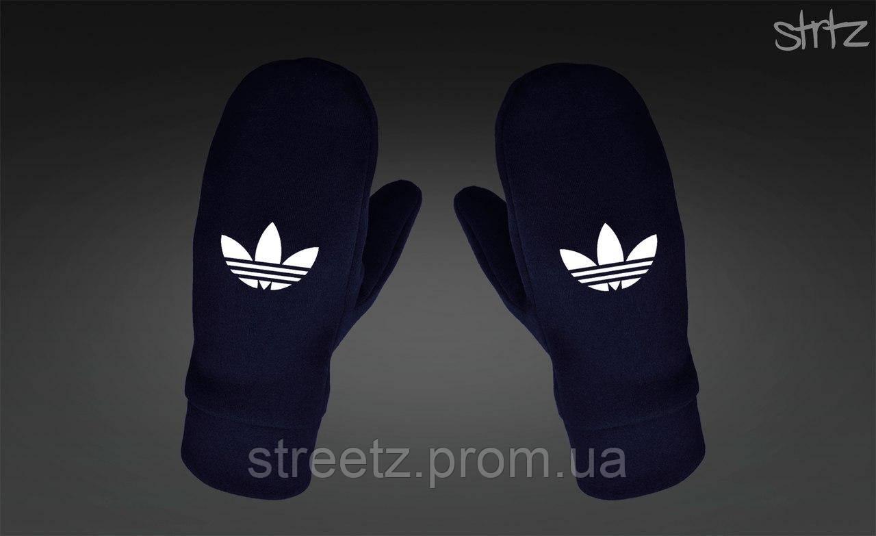 Варежки Adidas Originals Fleece Mittens темно синие