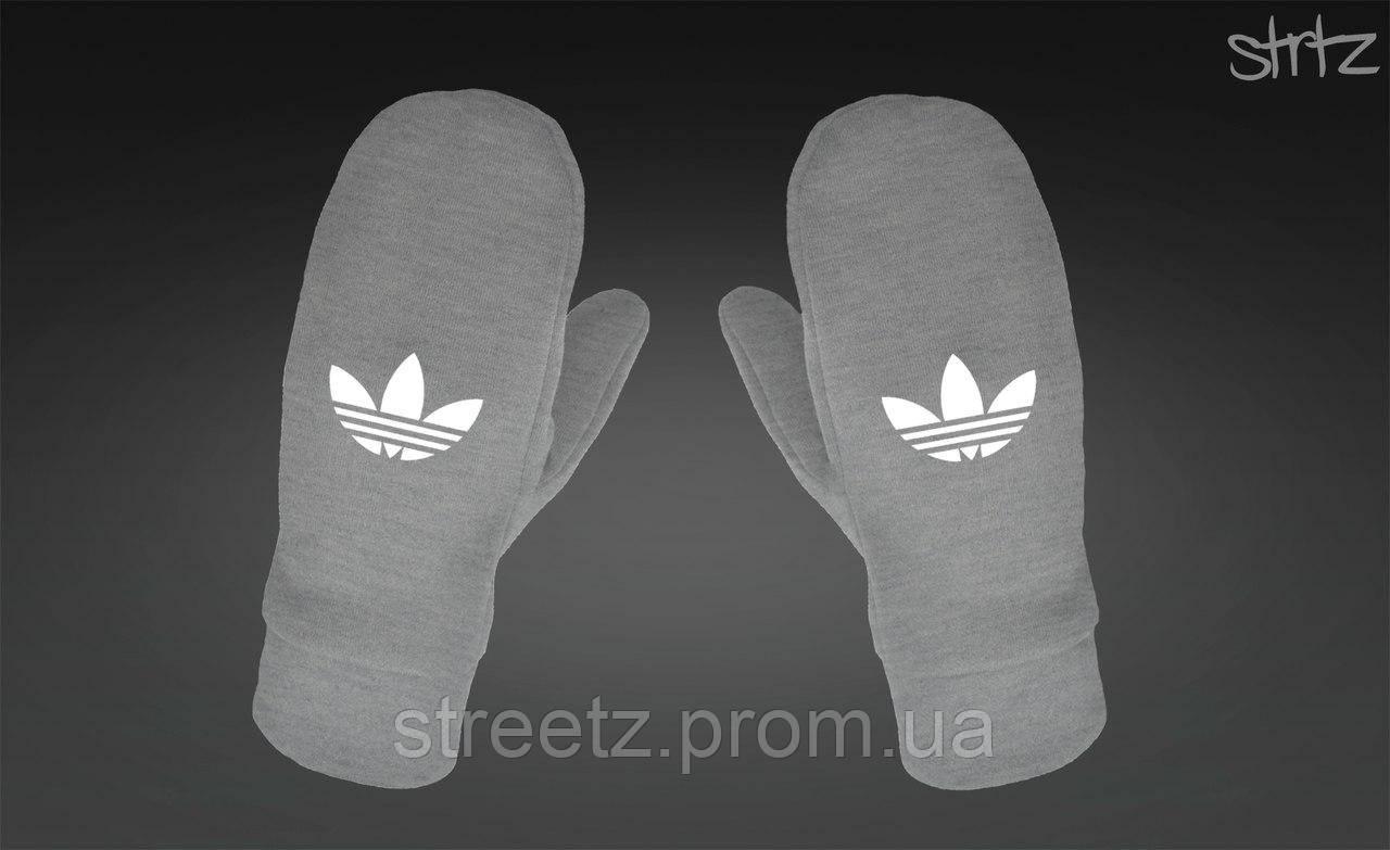 Варежки Adidas Originals Fleece Mittens серые