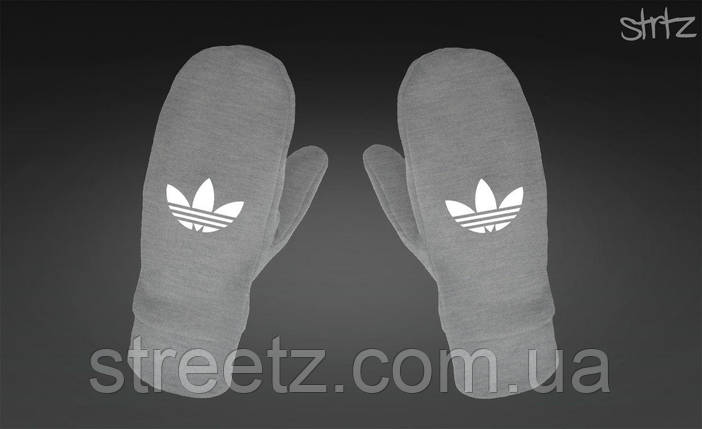 Варежки Adidas Originals Fleece Mittens серые, фото 2