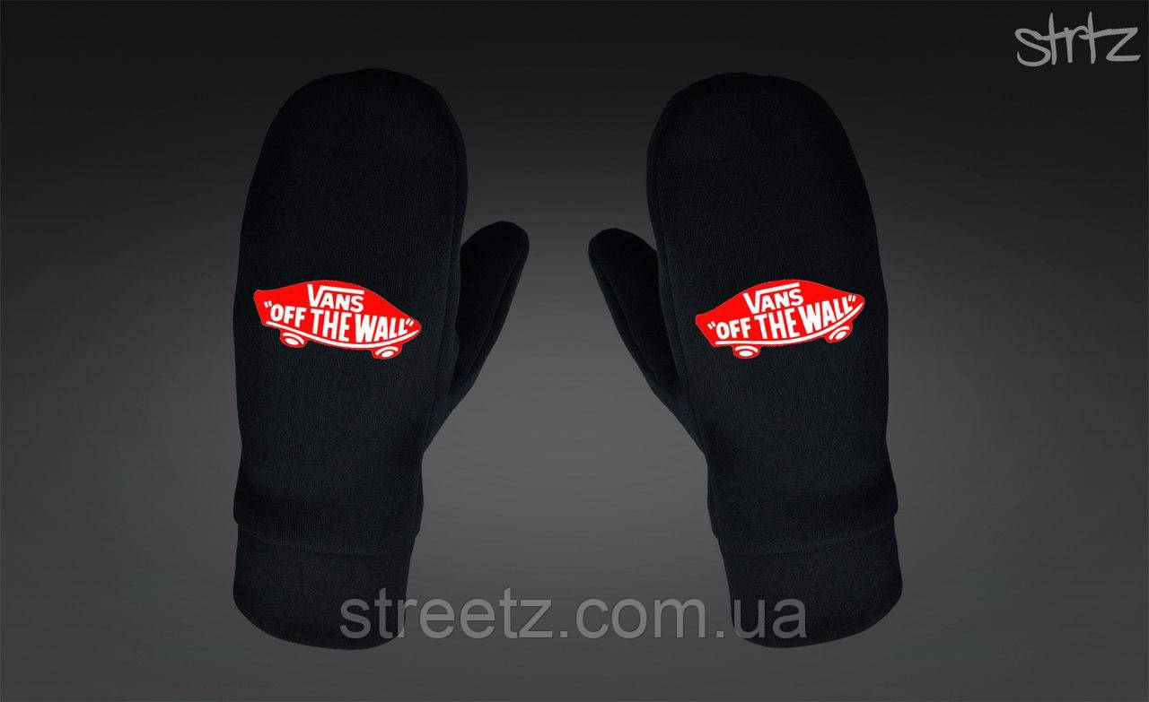 Варежки Vans Fleece Mittens черные