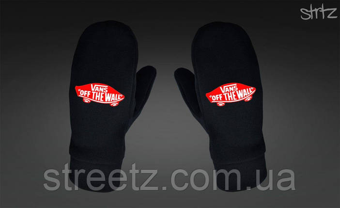 Варежки Vans Fleece Mittens черные, фото 2