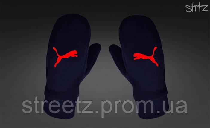 Рукавиці Puma Fleece Mittens темно сині, фото 2