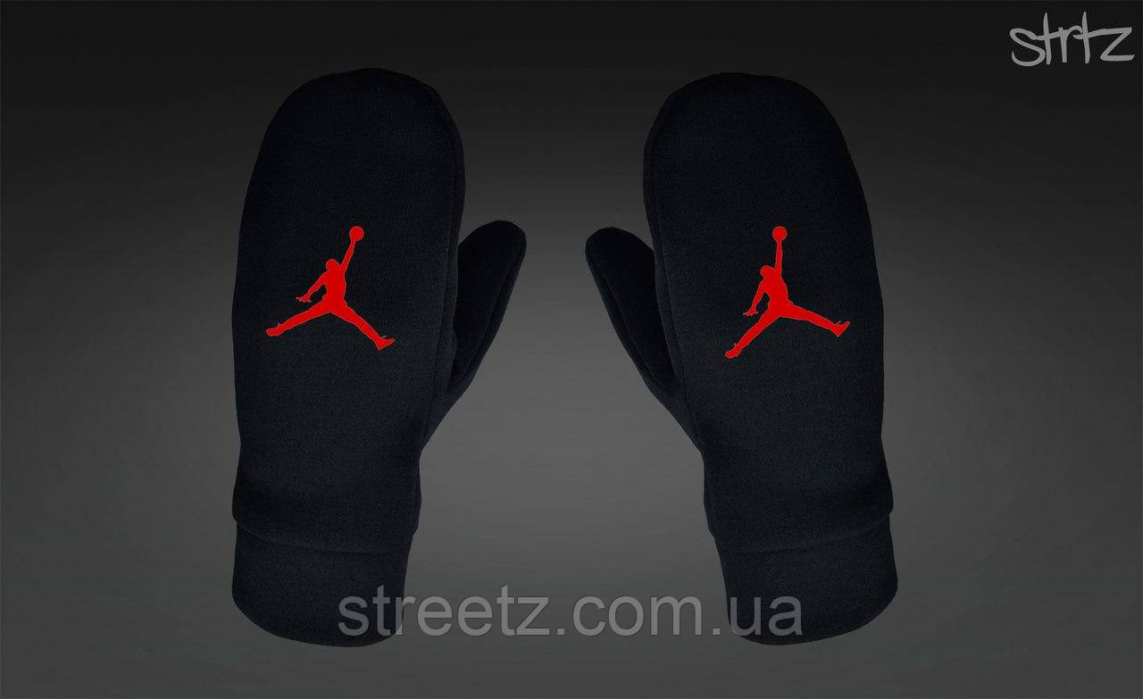 Варежки Jordan Fleece Mittens черные
