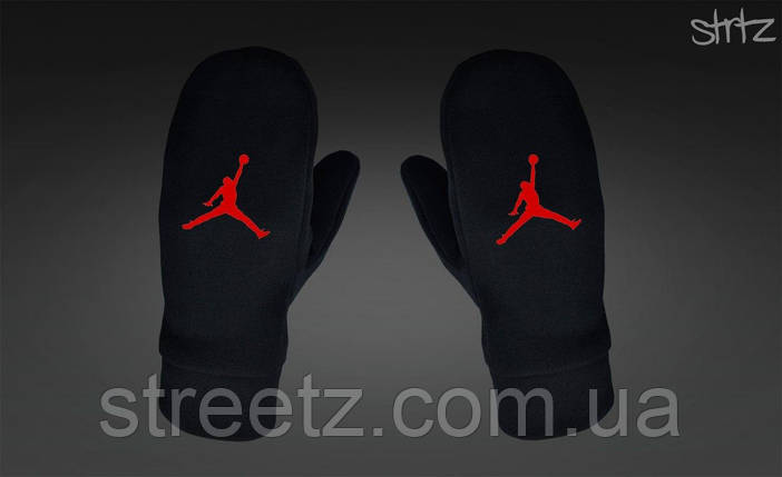 Варежки Jordan Fleece Mittens черные, фото 2