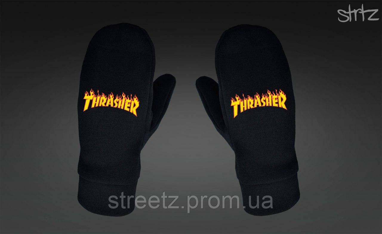 Варежки Thrasher Fleece Mittens черные