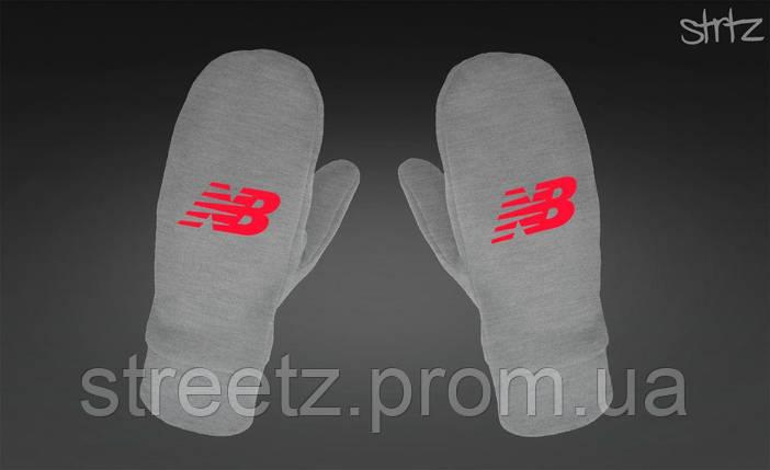 Рукавиці New Balance Fleece Mittens сірі, фото 2