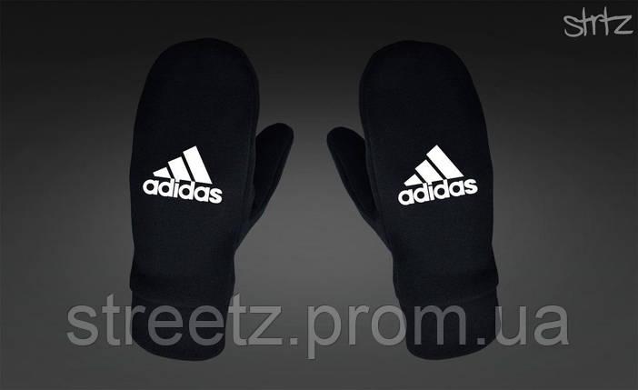 Варежки Adidas Perfomance Fleece Mittens черные, фото 2