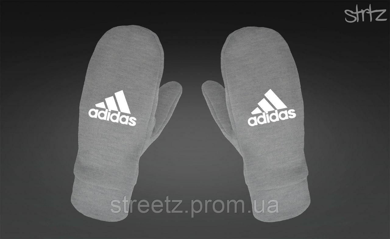 Рукавички Adidas Perfomance Fleece Mittens сірі