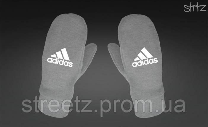 Рукавички Adidas Perfomance Fleece Mittens сірі, фото 2