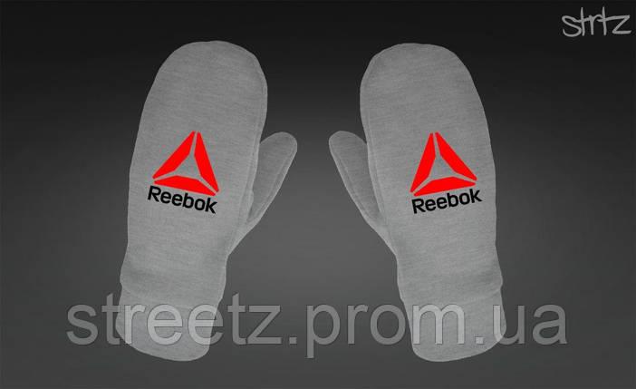 Рукавиці Reebok Crossfit Fleece Mittens сірі, фото 2