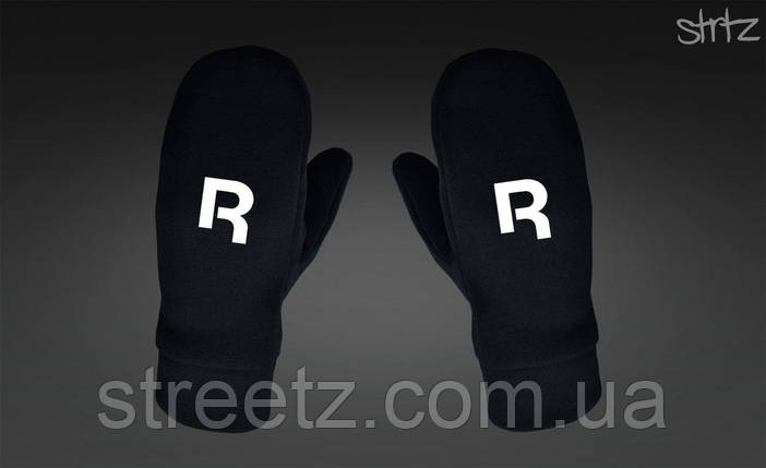 Рукавиці Reebok Classic Fleece Mittens чорні, фото 2