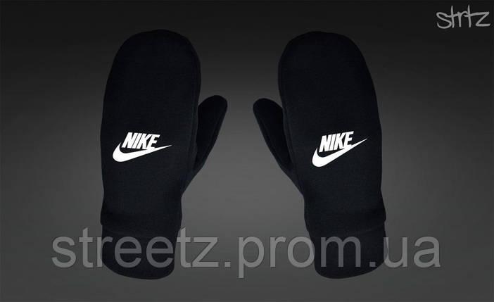 Рукавиці Nike Fleece Mittens чорні, фото 2