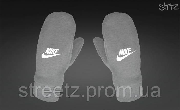 Рукавиці Nike Fleece Mittens сірі, фото 2