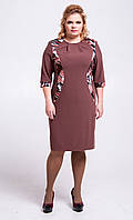 Платье-футляр кофейное П111