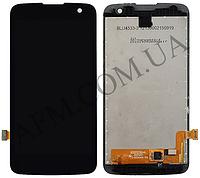 Дисплей (LCD) LG K120E/  K4 K121/  K4 K130E с сенсором черный оригинал