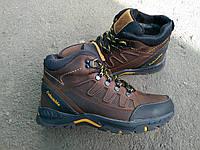 Мужские зимние спортивные кроссовки Columbia из натуральной кожи и меха