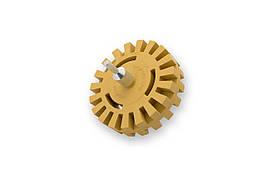 """Круг для снятия двухстороннего скотча - Flexipads Toothed Tape Erazer Width Wheel 100 мм. (4"""") желтый (TE400)"""