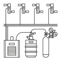 Комплект оборудования для розлива пива
