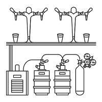 Комплект оборудования для пивного ресторана, фото 1