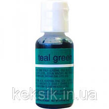 Гелиевая краска Chefmaster Liqua-Gel Teal Green