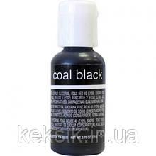 Гелиевая краска Chefmaster Liqua-Gel Coal Black