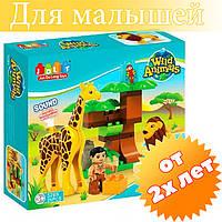 Конструктор JDLT 5289 (аналог Lego Duplo) Зоопарк 26 деталей и звук