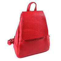Красный женский рюкзак М104-68 городской матовый вместительный, фото 1