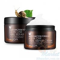 Улиточный крем для лица МIZON All In One Snail Repair Cream 30 мл, оригинал