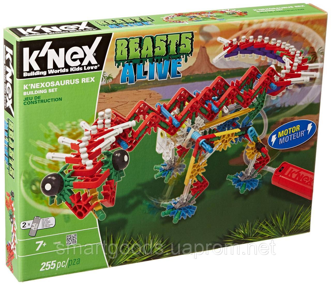 Конструктор Динозавр KNEX c мотором, фото 1