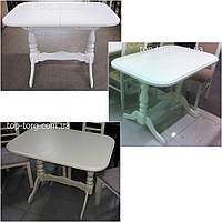 Стол Аврора 100(+35)х70см белый, ваниль, беж