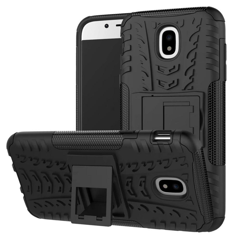 Чехол Samsung J330 / J3 2017 противоударный бампер черный