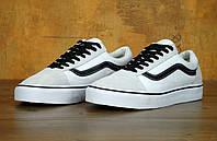 "Кеды Vans Old Skool ""White Black"" - ""Белые Черные "" (Копия ААА+), фото 1"