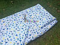 Постельный набор в детскую кроватку Байка (3 предмета) Кораблики, фото 1