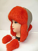 Жіноча шапка-ушанка (кролик)   (Женская шапка-ушанка (кролик))