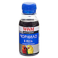 Черные чернила wwm e82/b-2 для epson stylus photo t50/p50/px660 100г black