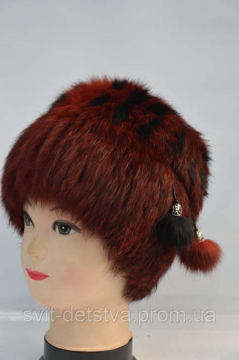 Хутряна жіноча шапка-кубанка (кролик) (Меховая женская шапка-кубанка (кролик f110dabd390b4