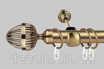 Карниз для штор однорядный металлический 25 мм, Одеон