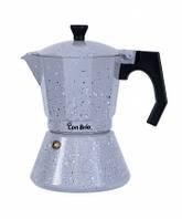 Гейзерная кофеварка Con Brio СВ6706 ,ИНДУКЦИЯ,6 порций,300мл, алюмінієвий корпус
