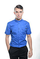 Мужская рубашка, синий 3128 М