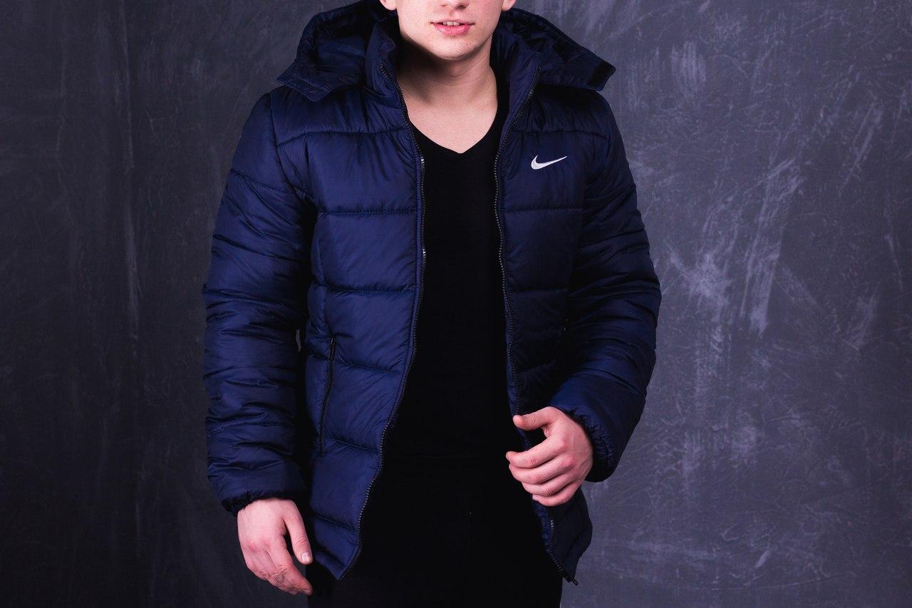 Куртка Nike (Найк) PROMO, темно-синя