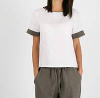 Льняная блуза с манжетами, фото 1