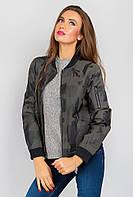 Куртка короткая женская AG-0004397 Болотно-черный