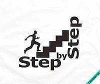 Термоперевод для бизнеса на ботинки Step by step [7 размеров в ассортименте] (Тип материала Матовый)