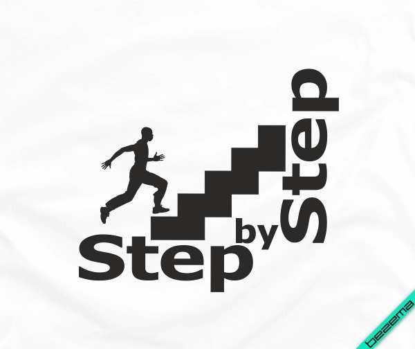 Термоперевод для бизнеса на ботинки Step by step [7 размеров в ассортименте] (Тип материала Флок)