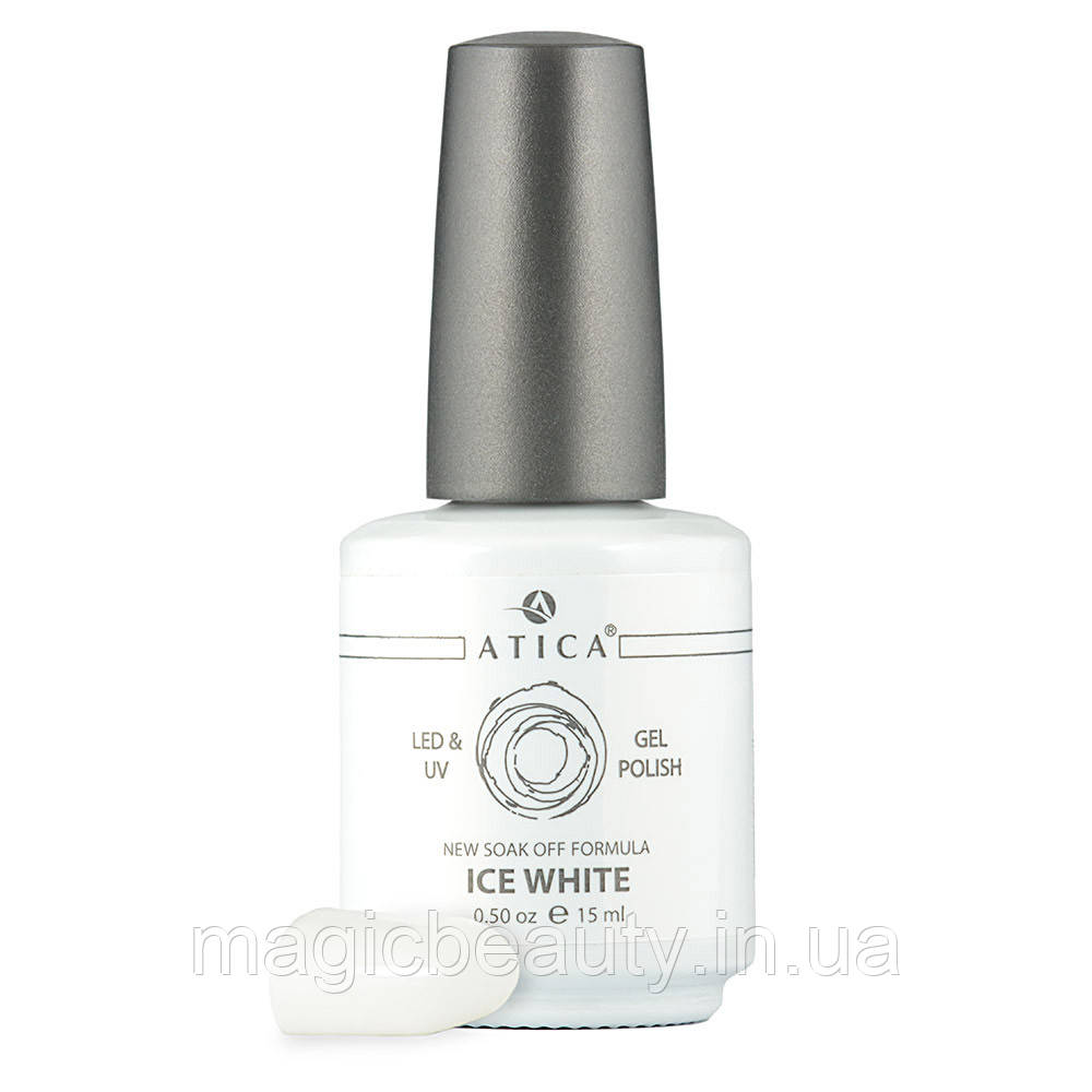 Гель-лак Atica Ice White 01, 15 мл