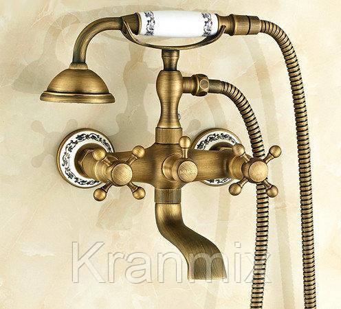 Бронзовый смеситель для ванны Aquaroom кран в раковину в умывальник душевая стойка