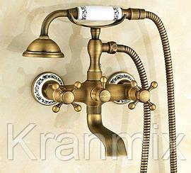 Бронзовый смеситель для ванны Aquaroom кран в раковину для умывальника душевая стойка