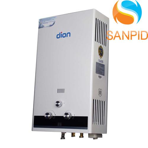 Газова колонка Dion JSD 10 дисплей (біла)